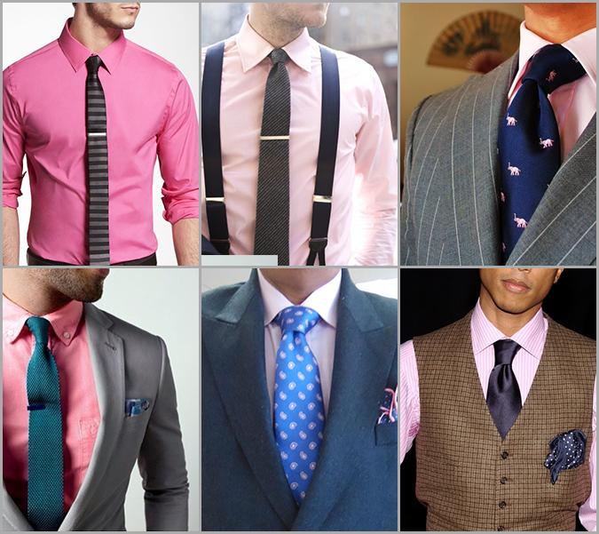 basgann-pembe-gomlek-kravat-secimi